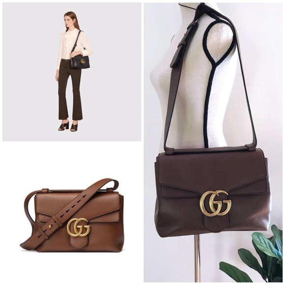 many styles hot-selling official outlet sale Gucci GG Marmont Leather Shoulder Medium Bag Purse
